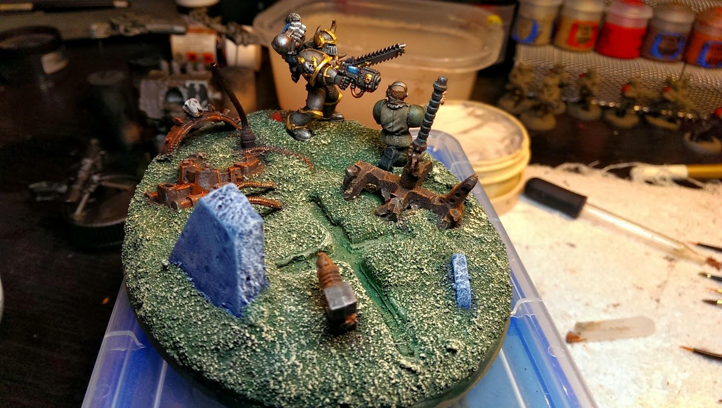 Chaos Space Marines, Iron Warriors, Scenic, Surrender