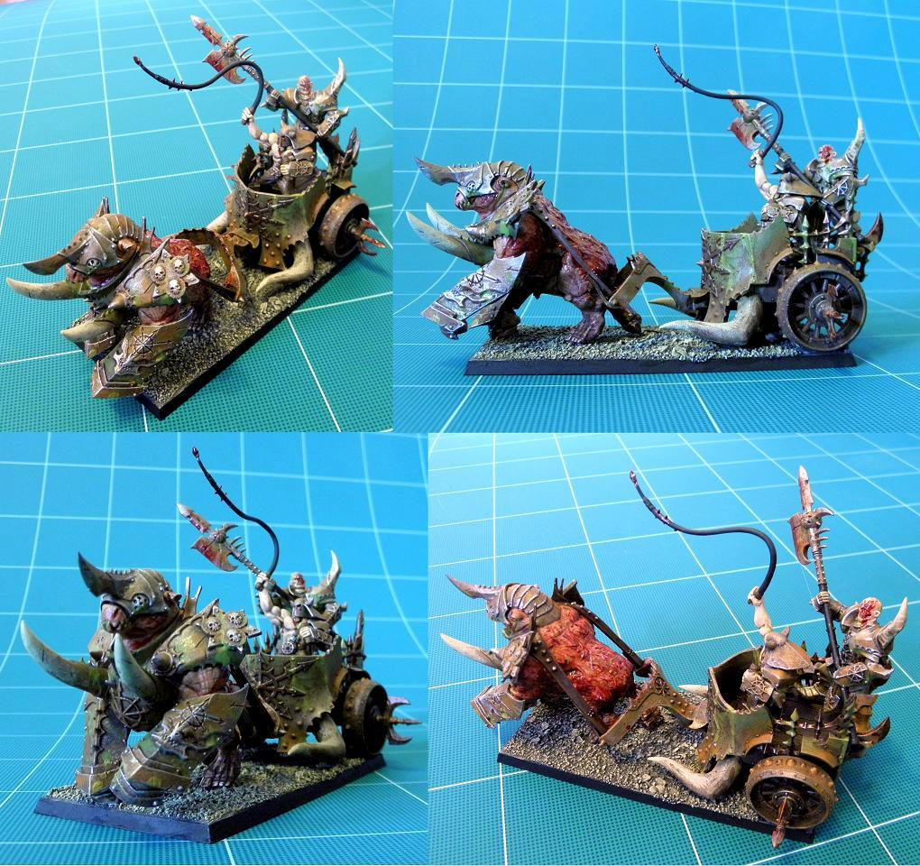 Blood For The Blood God, Chaos, Chariot, Gorebeast, Gorebeast Chariot, Nurgle, Nurgle Gorebeast Chariot, Nurgle's Rot, Ryza Rust, Typhus Corrosion, Warhammer Battle, Warhammer Fantasy, Warriors Of Chaos