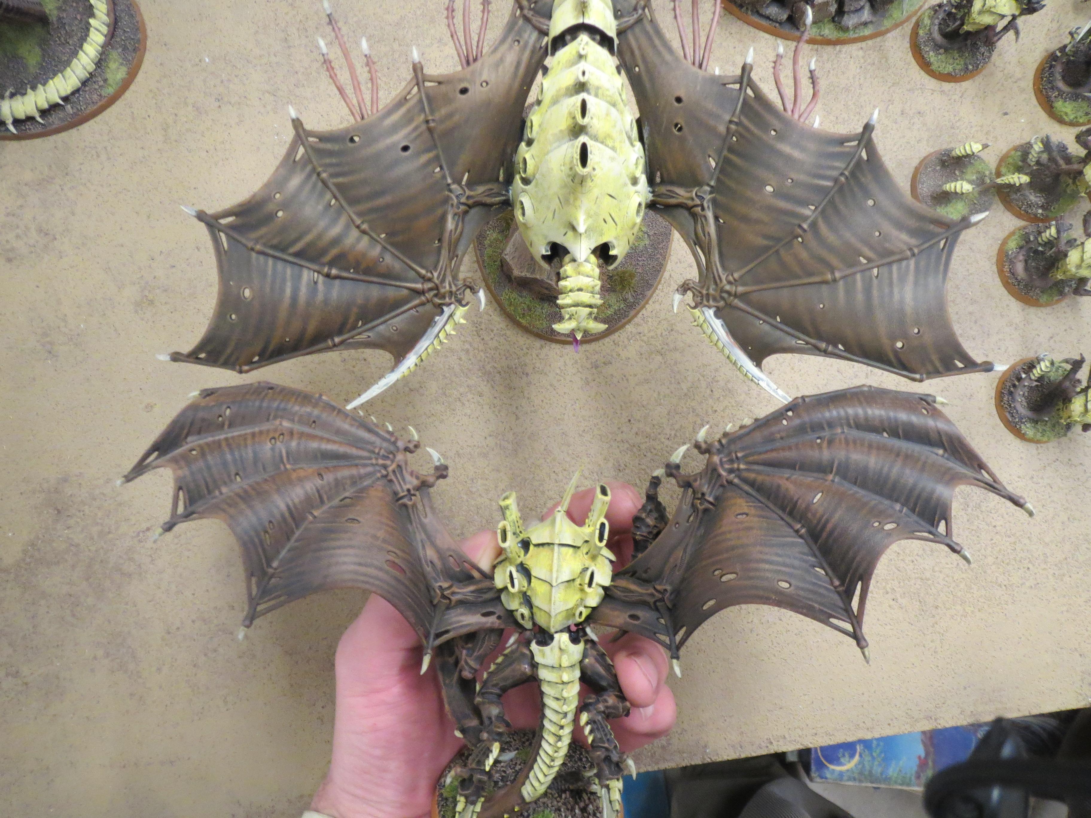 Drybrush, Hive Tyrant, Tyranids, Warhammer 40,000, Winged