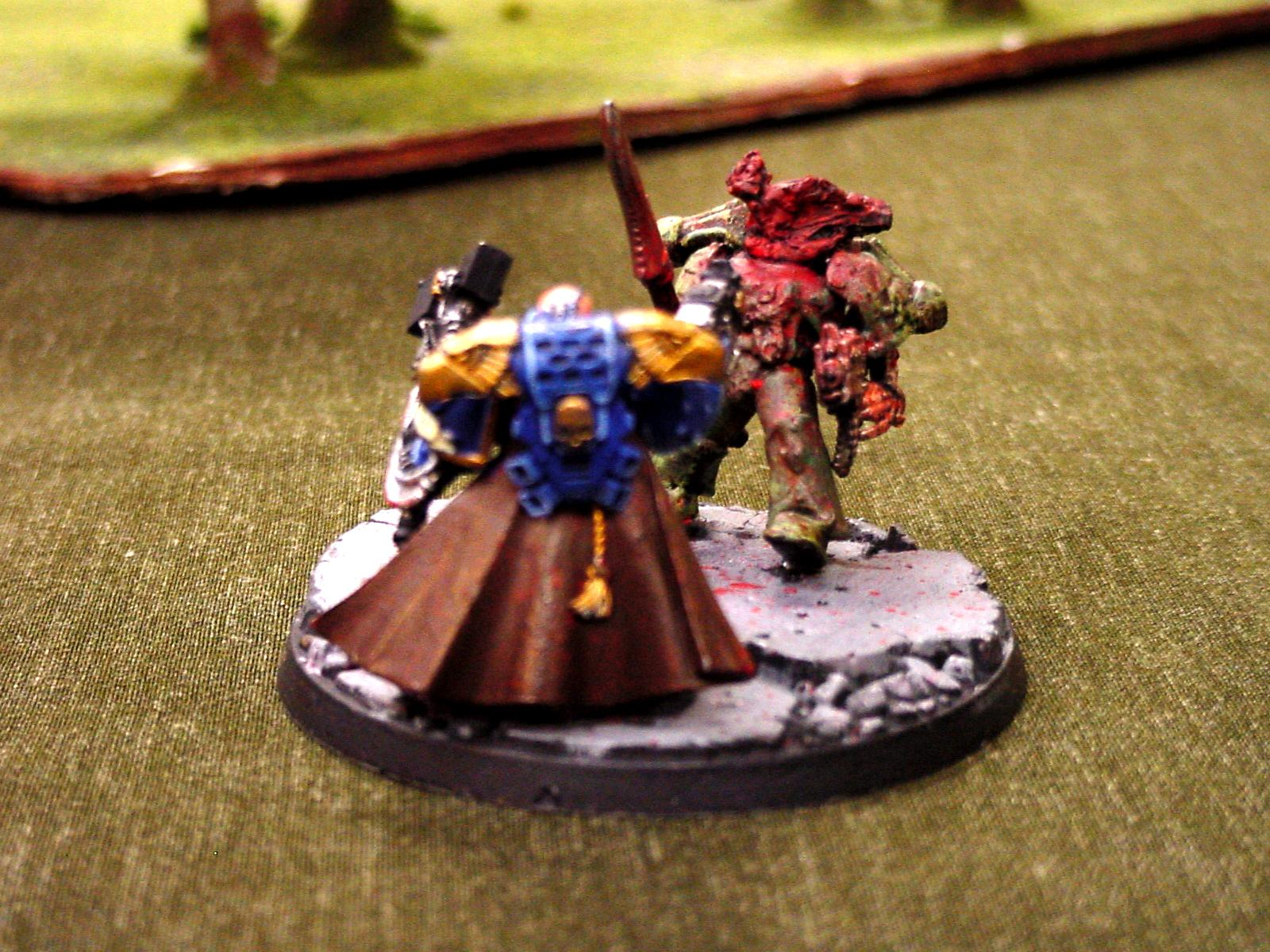 Awesome, Captain, Conversion, Custom, Force Commander, Plague Marines, Space Marines, Ultramarines, Violent, Warhammer 40,000