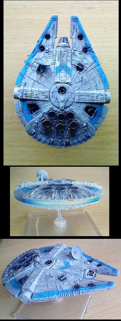 Custom, Fantasy Flight, Millennium Falcon, Repaint, X-Wing, Yt-1300