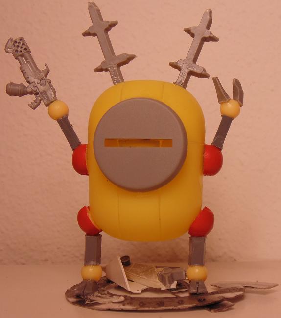 Bob, Conversion, Dreadnought, Fun, Humor, Imperial, Imps, Ogres, Ogryns, Plankton, Scratch Build, Sponge, Trash, Walker