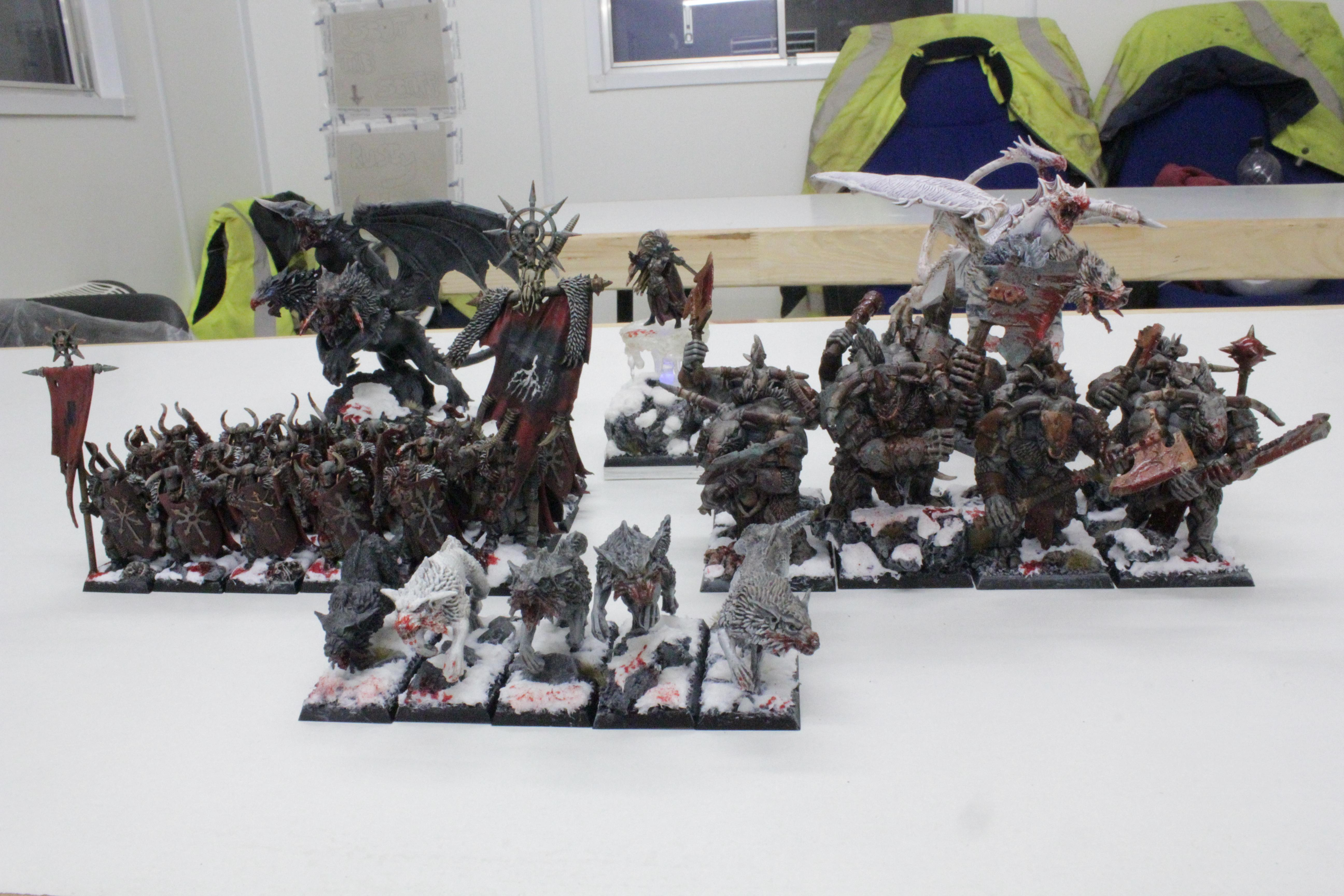 Chaos, Chaos Trolls, Chimera, Disk Of Tzeentch, Minotaurs, Sorceress, Standard Bearer, Warhammer Fantasy, Warhound, Warriors, Warriors Of Chaos, Woc