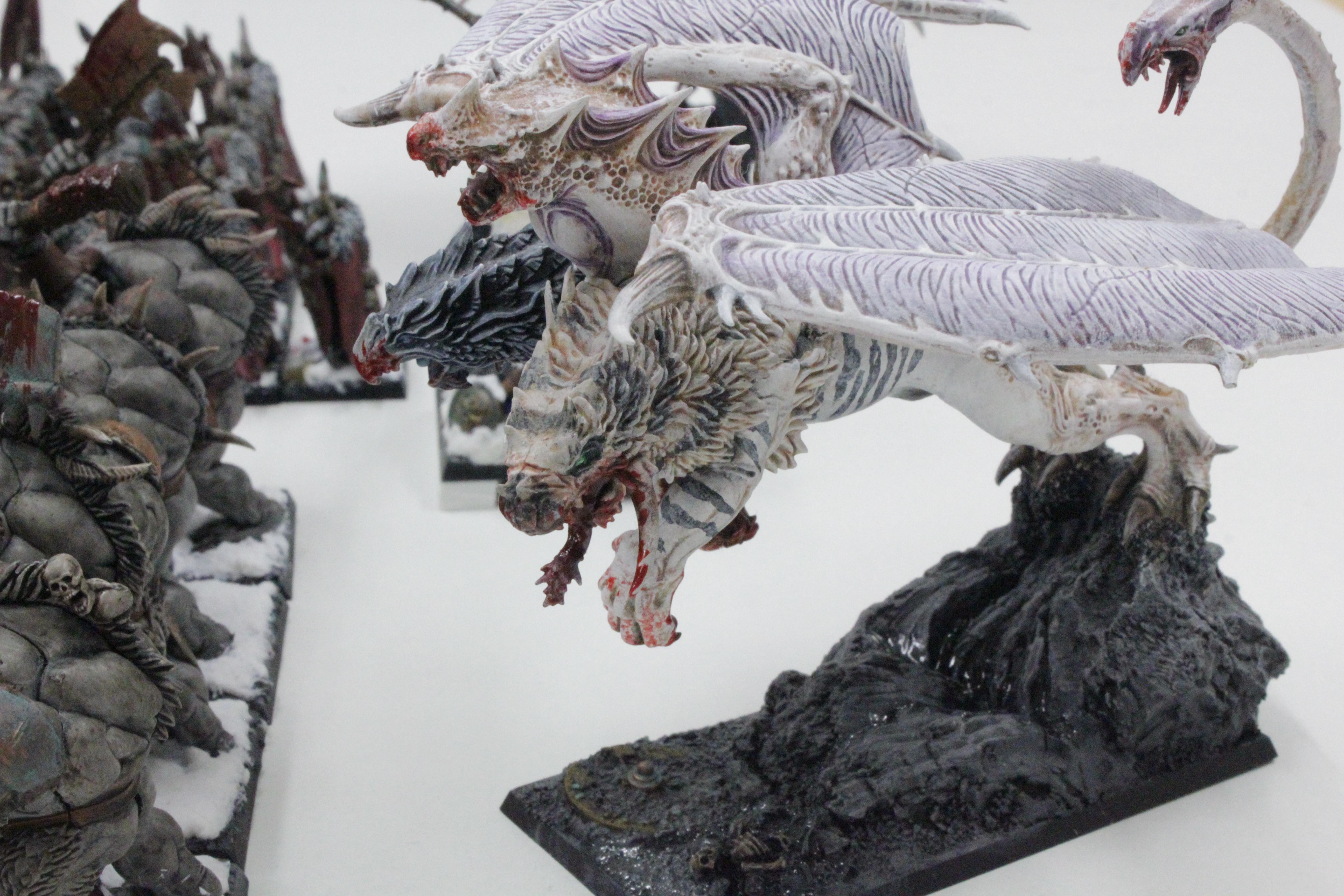Chaos, Chaos Trolls, Chimera, Disk Of Tzeentch, Minotaurs, Sorceress, Standard Bearer, Warhammer Fantasy, Warhound, Warriors, Warriors Of Chaos, Woc