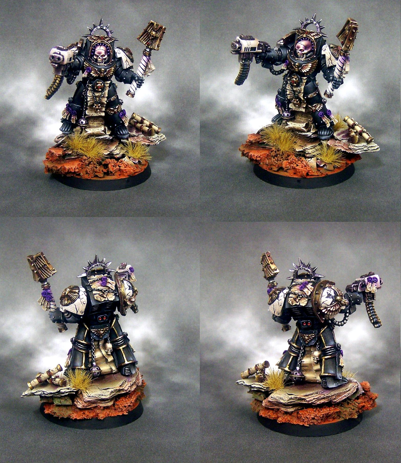Black Templars, Chaplain, Space Marines, Terminator Armor
