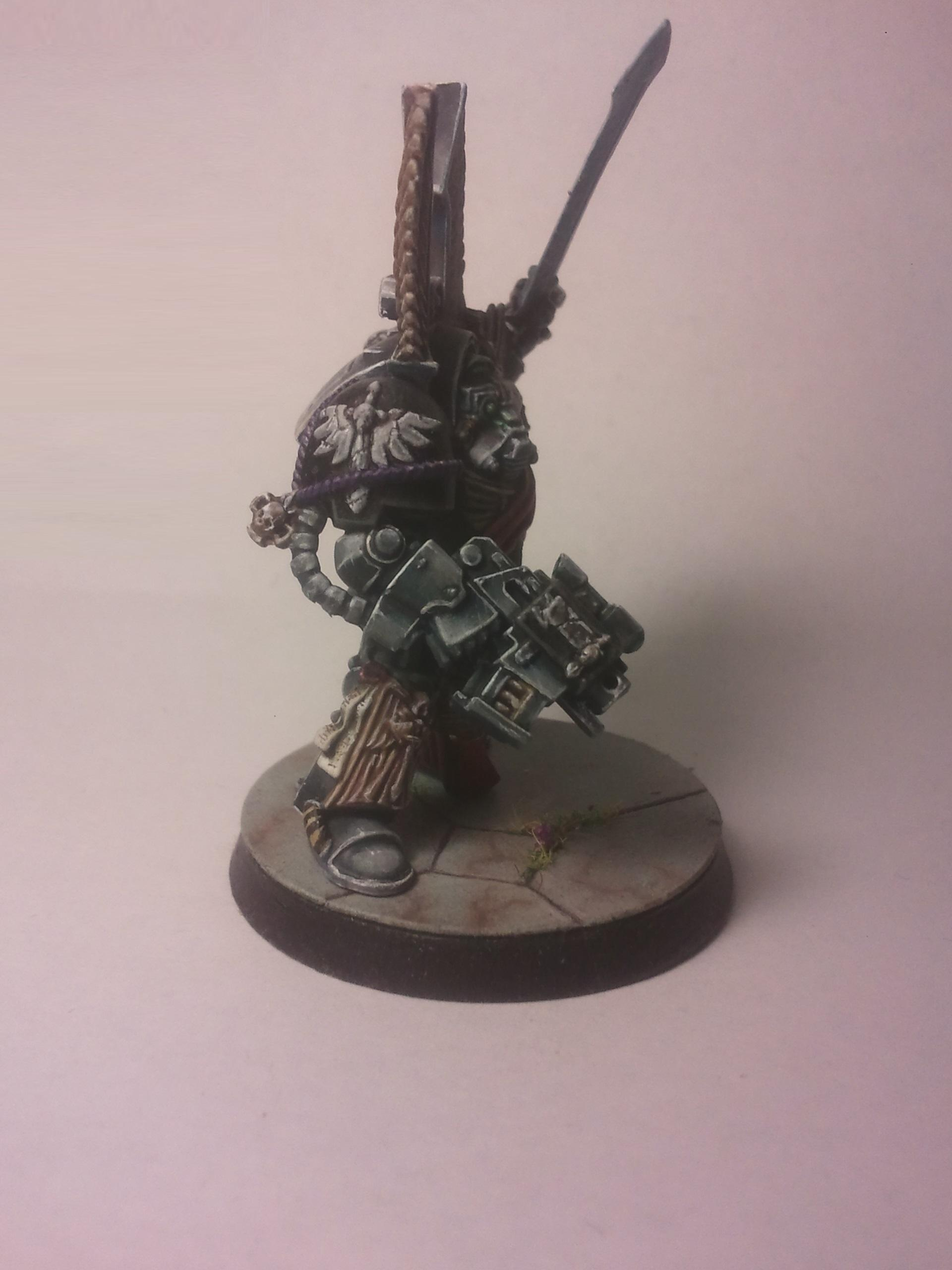 Dark Angels, Dark Vengeance, Guardians Of The Covenant, Marble, Non-Metallic Metal, Object Source Lighting, Sergeant, Successor Chapter, Terminator Armor