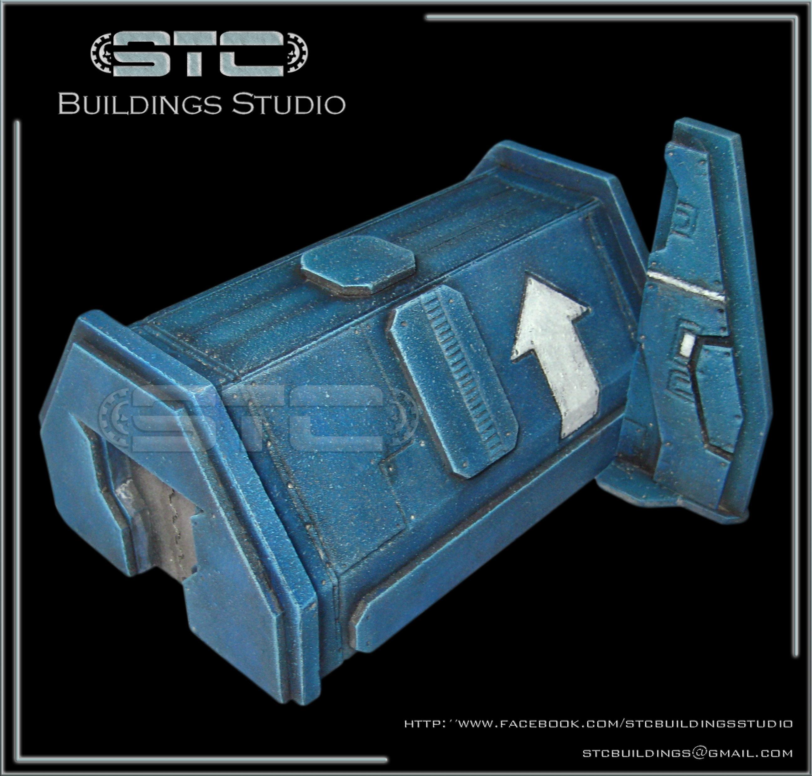 Barrack, Bunker, Game Table, Space Marines, Tabletop, Terrain, Terrains, Ultramarines, Warhammer 40,000