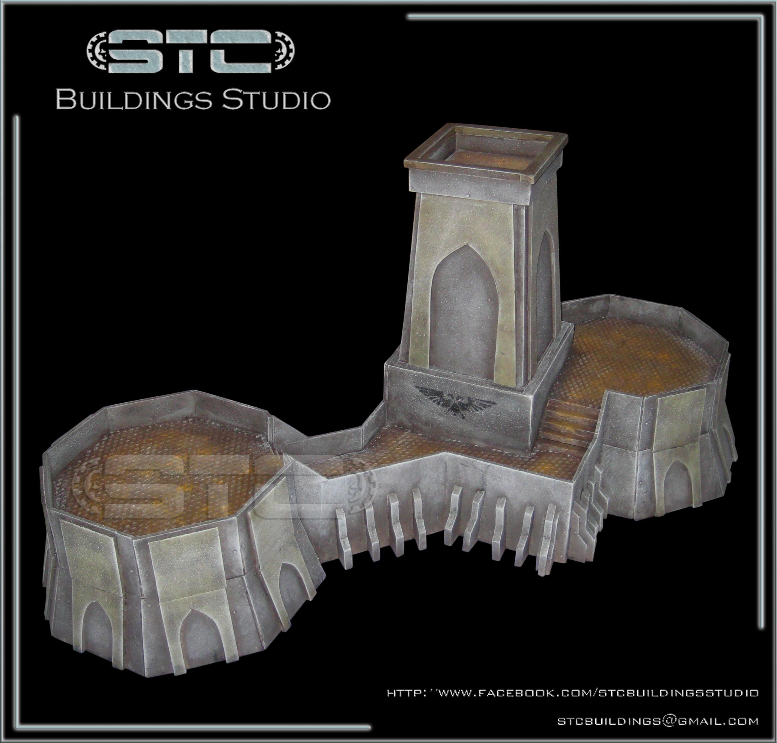 Barrack, Bunker, Fortress, Game Table, Imperial, Imperial Guard, Tabletop, Terrain, Terrains, Warhammer 40,000