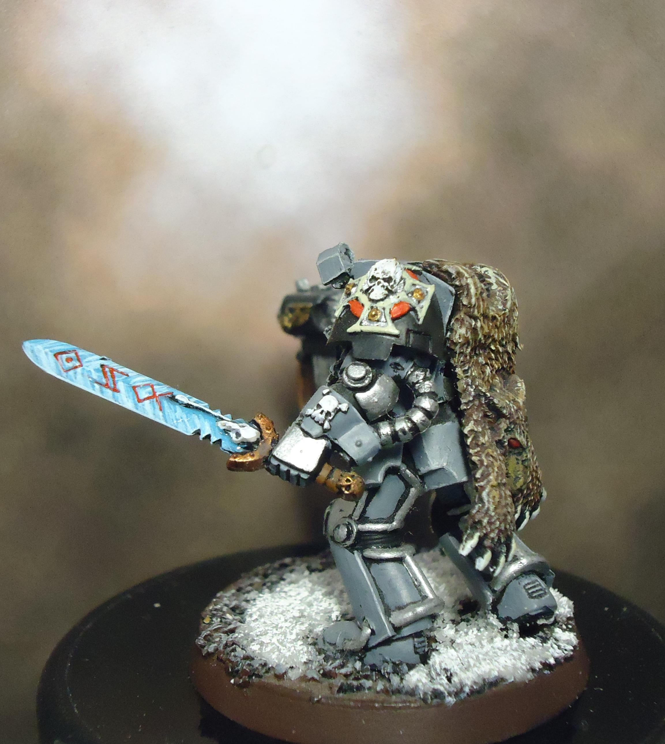 Conversion, Frost Blade, Space Marines, Space Wolves, Terminator Armor, Wolf Lord