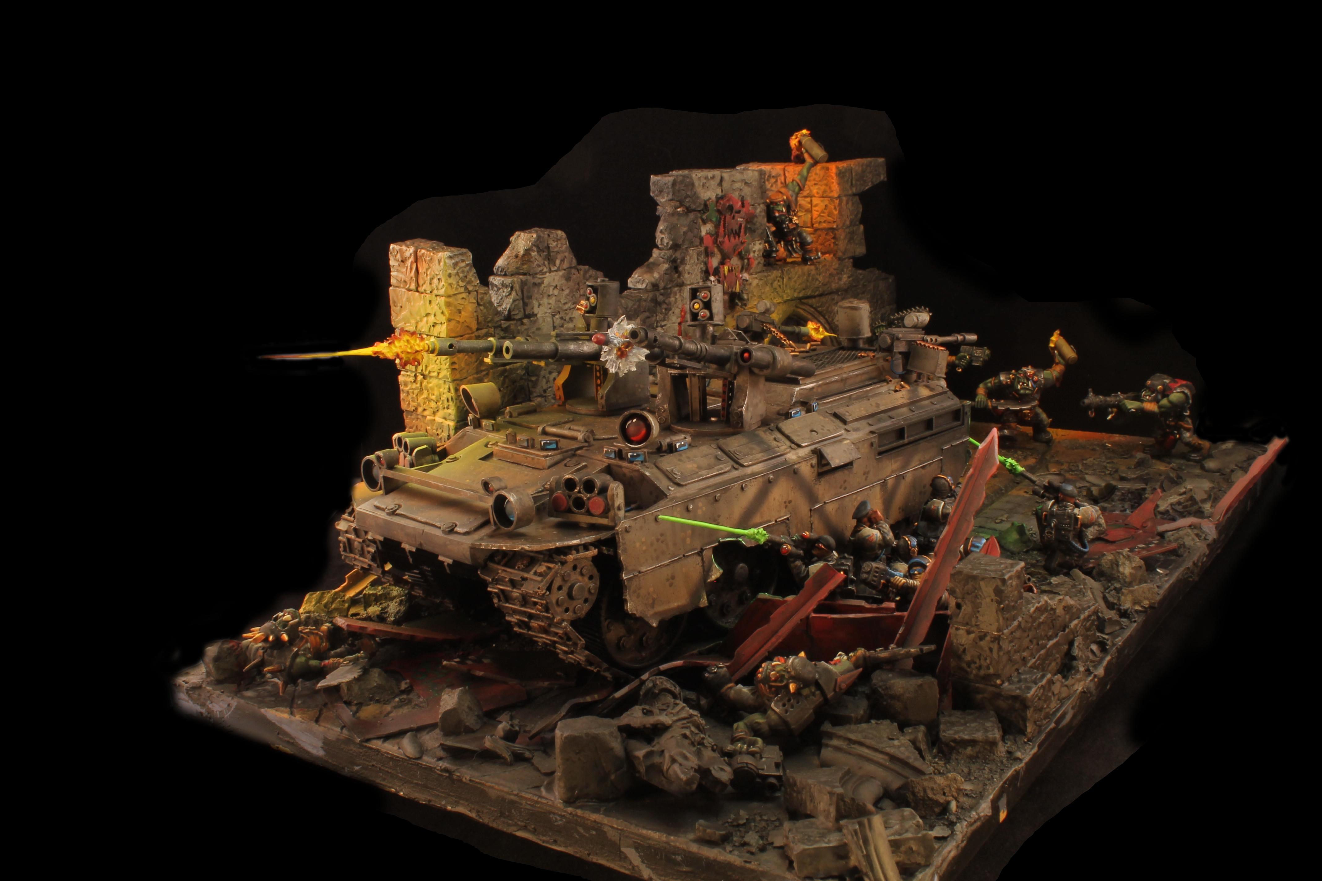 Apc, Diorama, Imperial Guard, Scratch Build