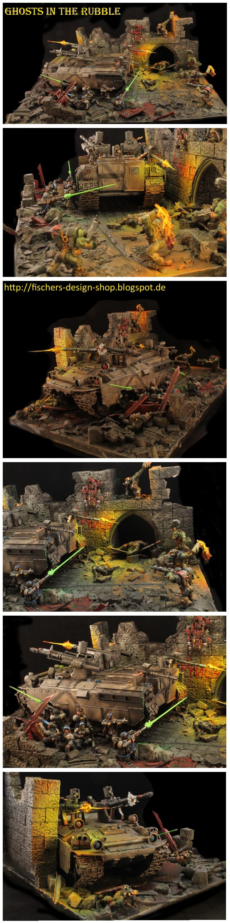 Action, Diorama, Imperial Guard, Orks