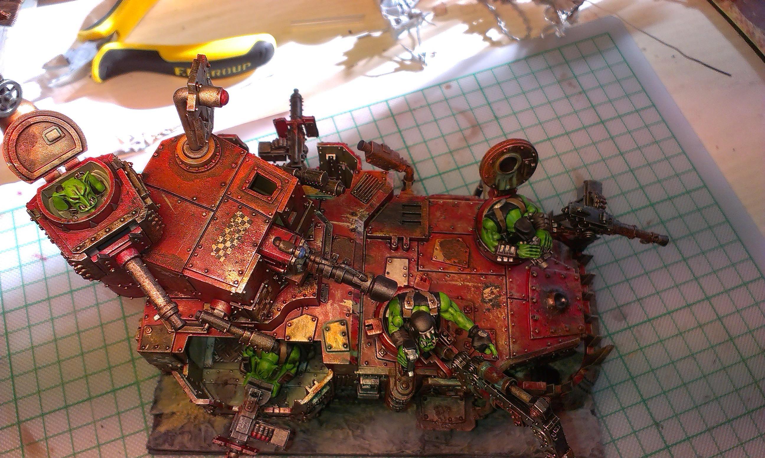Battlewagon, Custom Base, Ork Battle Wagon, Orks, Warhammer 40,000