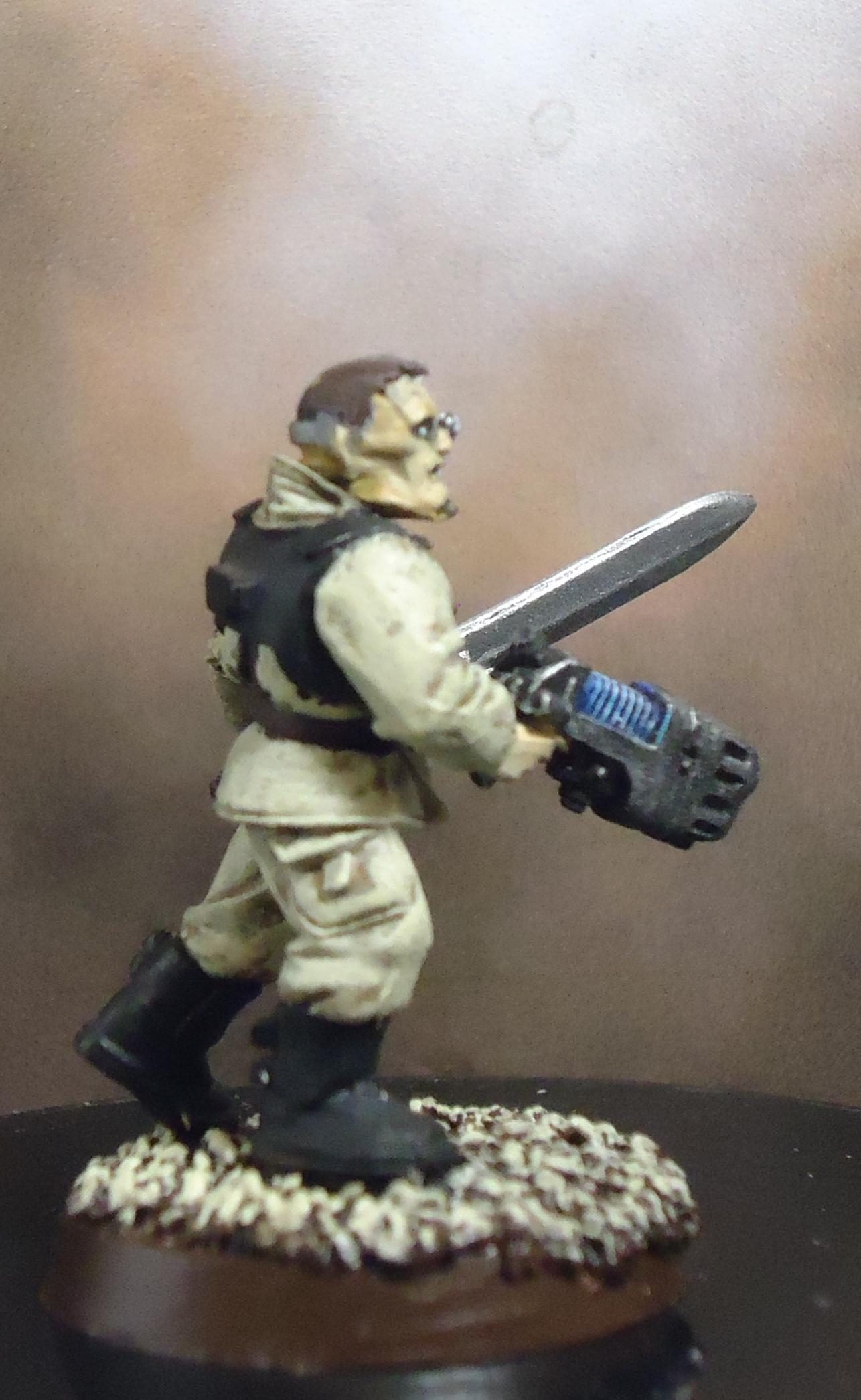 Imperial Guard, Officer, Plasma Pistol, Power Sword, Veteran