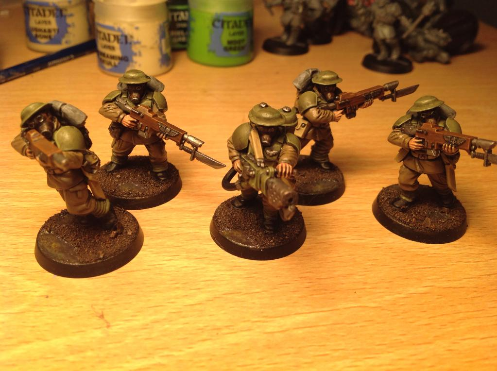 British, Conversion, Imperial Guard, Military, Themed, Trench, Warhammer 40,000, Ww1