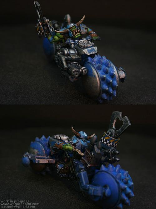 Bike, Blue, Conversion, Custom, Deathskulls, Jca, Orks, Powerklaw