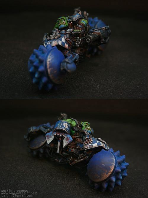 Bike, Blue, Conversion, Custom, Deathskulls, Jca, Orks, Powerklaw