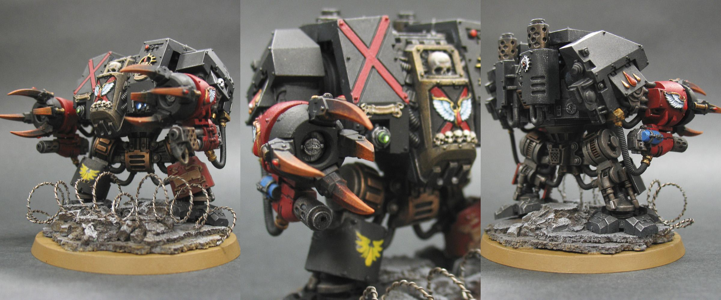 Blood Angels, Death Company, Dreadnought, Furioso, Space Marines, Venerable