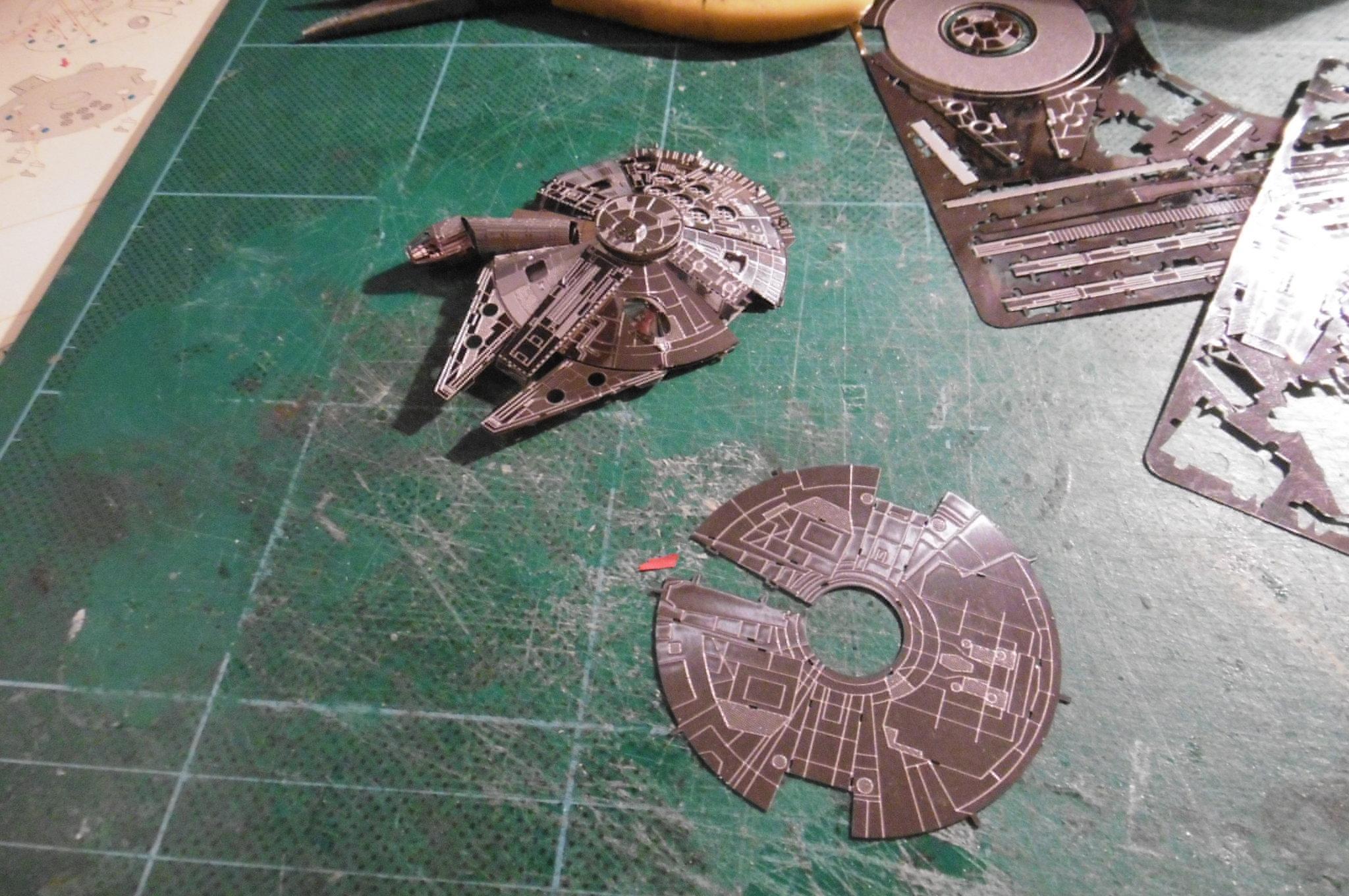 3d, Falcon, Kit, Metal, Millenium, Star, Wars