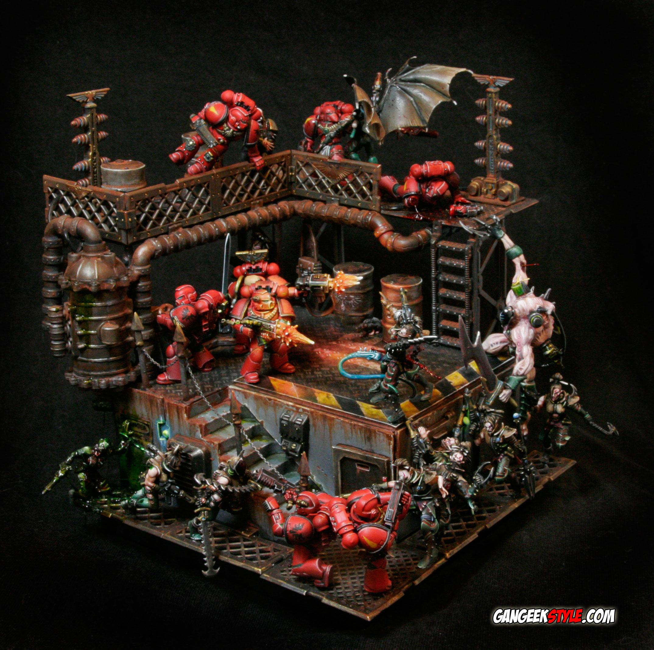 Blood Angels, Dark Eldar, Diorama, Freaking Awesome