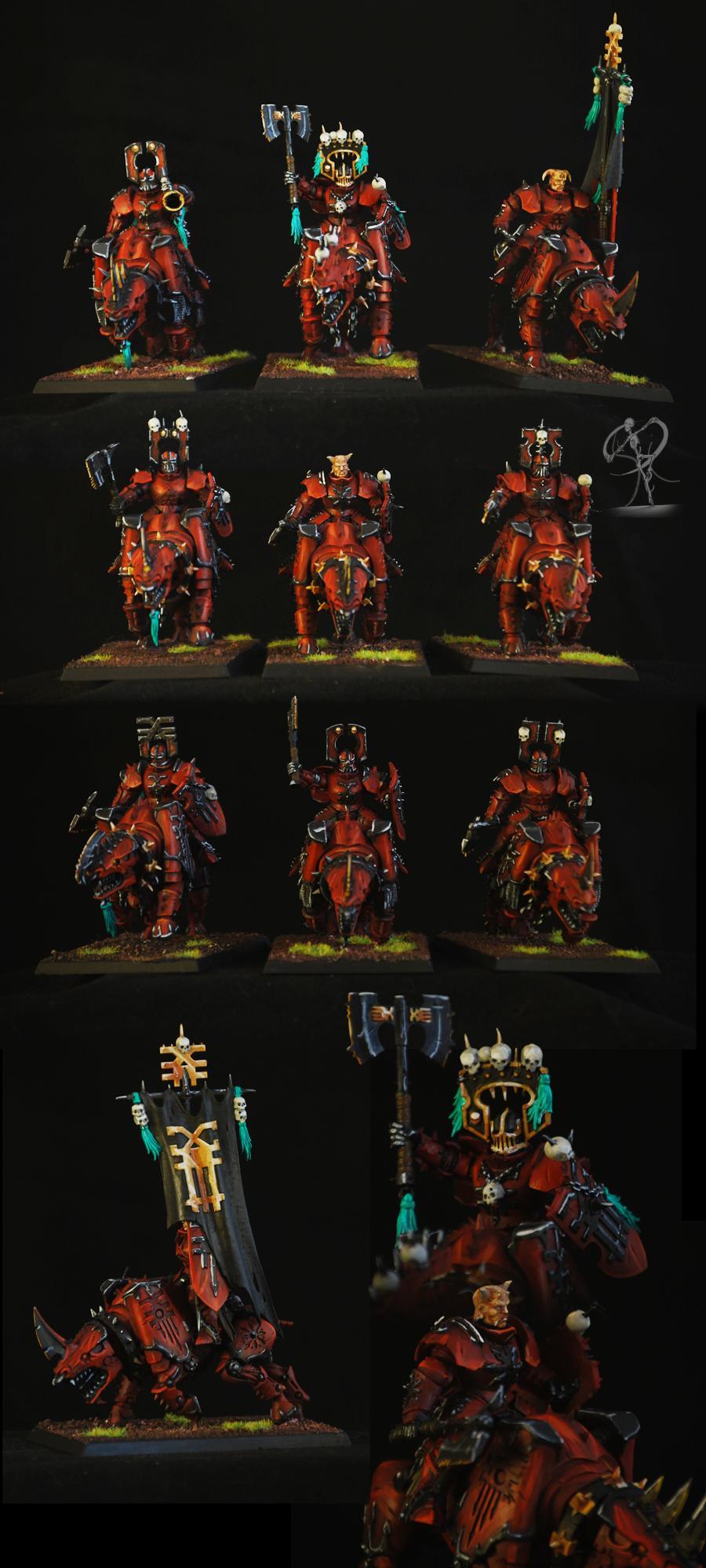 Cavalry, Juggernaut, Khorne, Warriors Of Chaos