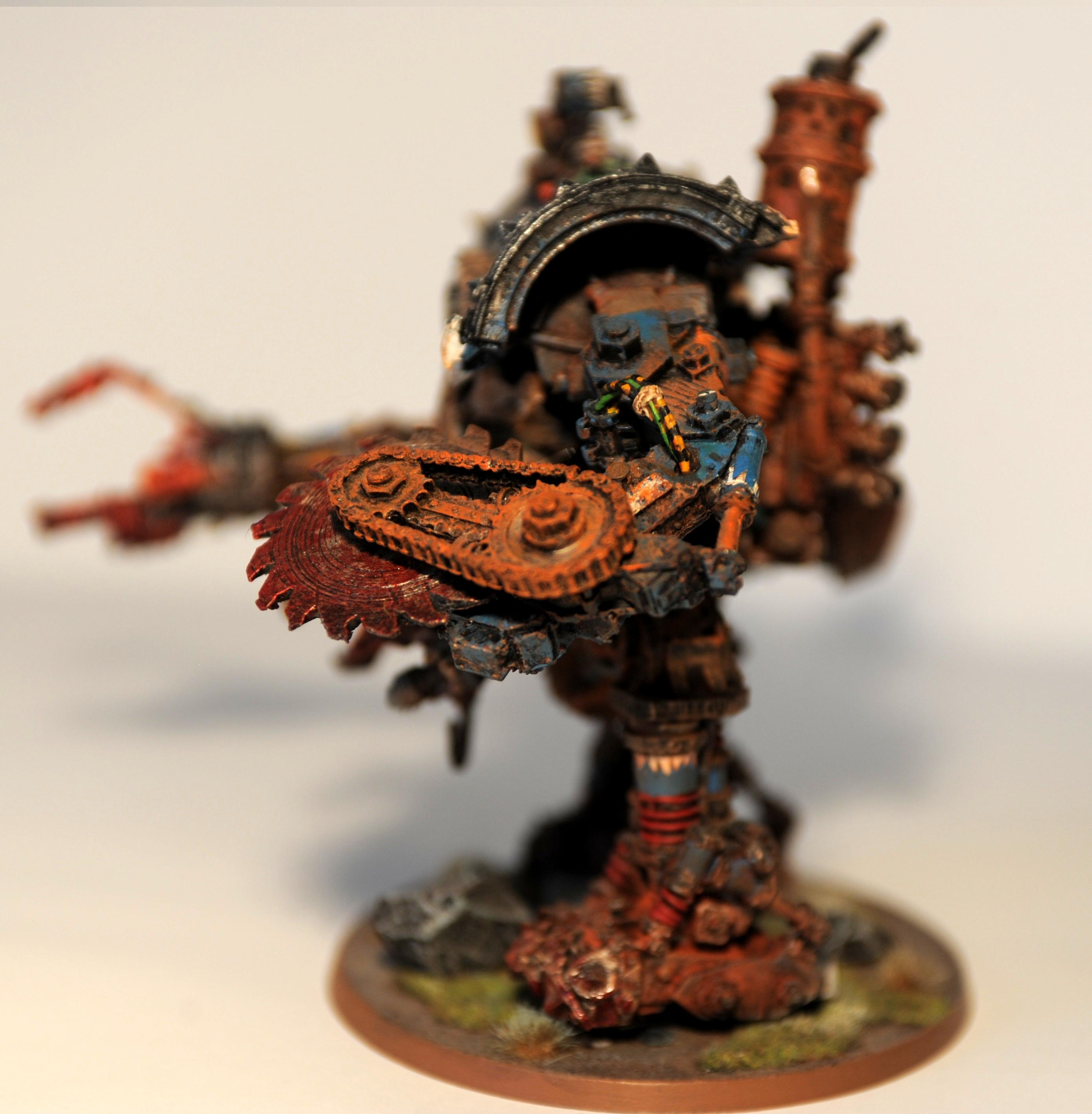 Deff Dread, Drednought, Forge World, Grot Riggers, Orcs, Rust, Warhammer 40,000