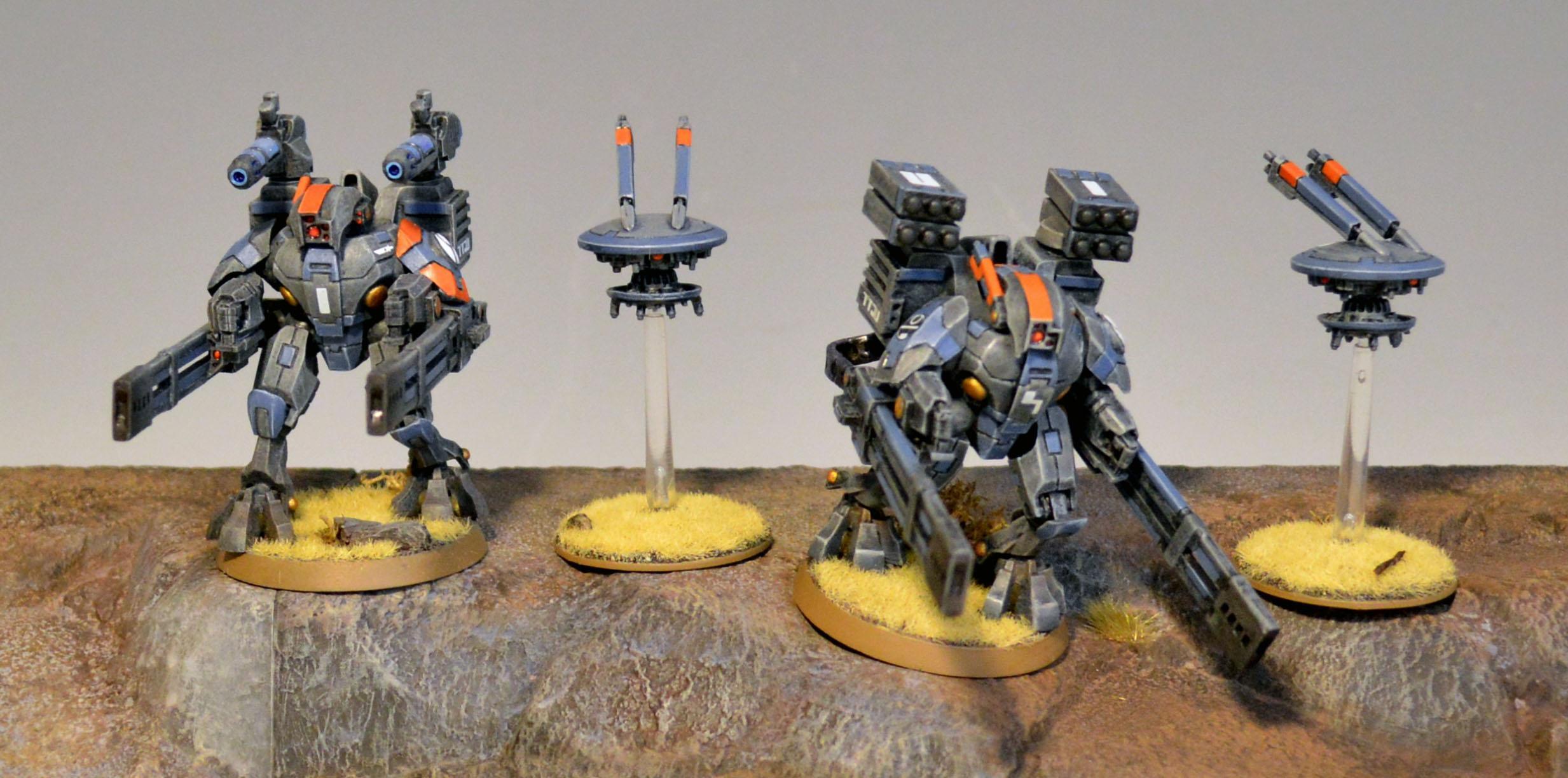 Broadsides, Xv-88, XV88 Broadside Battlesuit Team 1