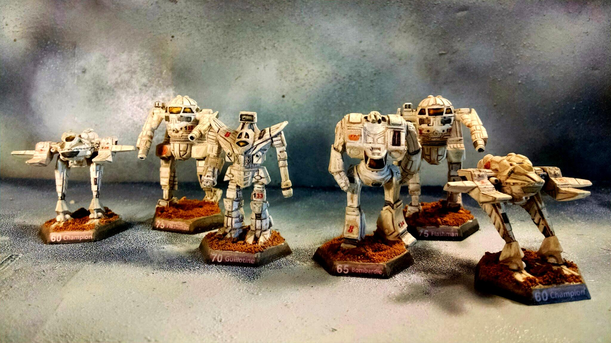 8th Division, Battletech, Bombardier, Champion, Flashman, Guillotine, Mechs, Wob, Word Of Blake