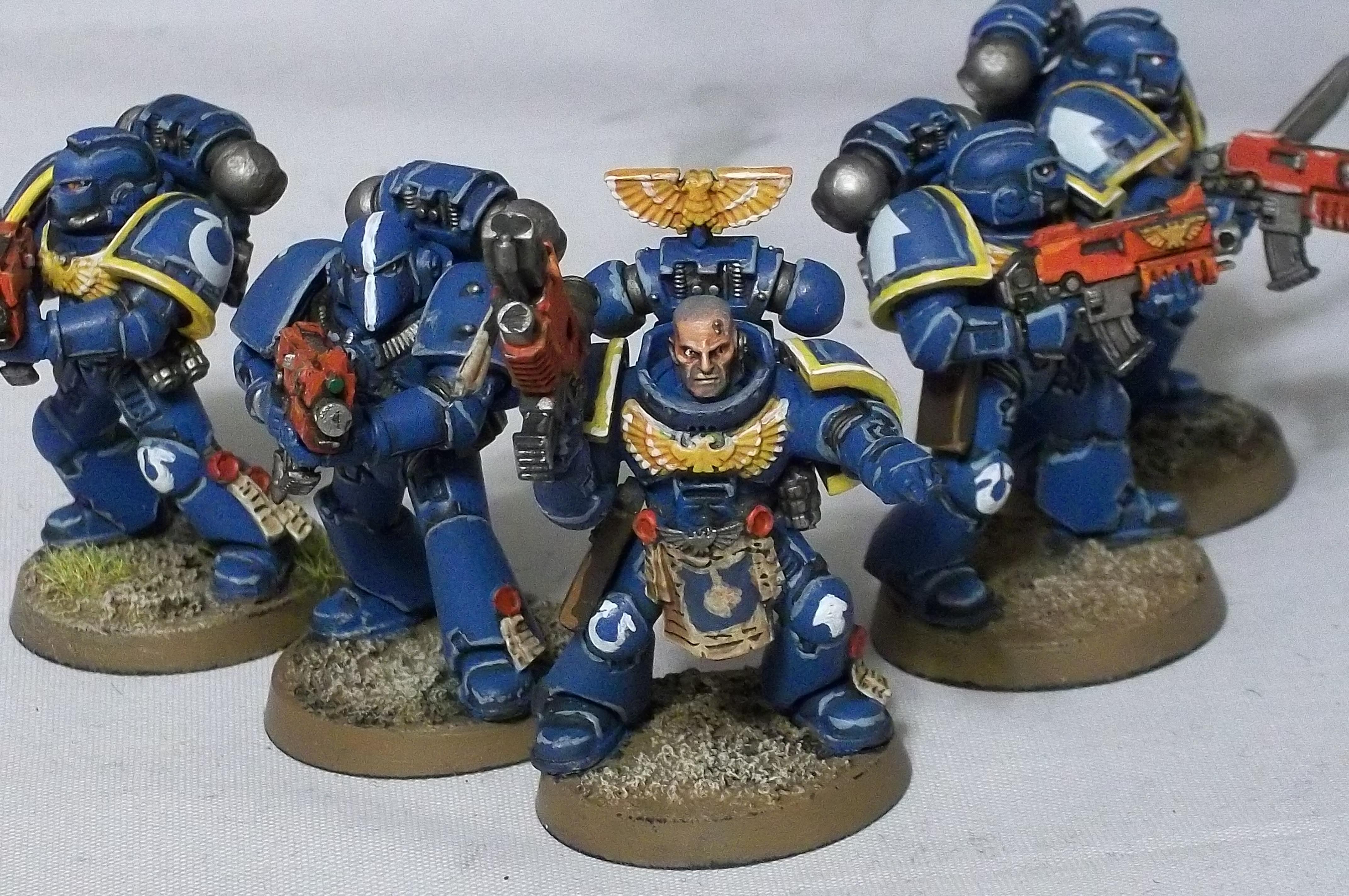 Retro, Space Marines, Tacitcal Squad, Ultramarines