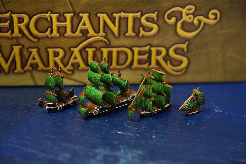 Merchants And Marauders, Painted, Pirates, Sailing, Sails, Sea, Ships