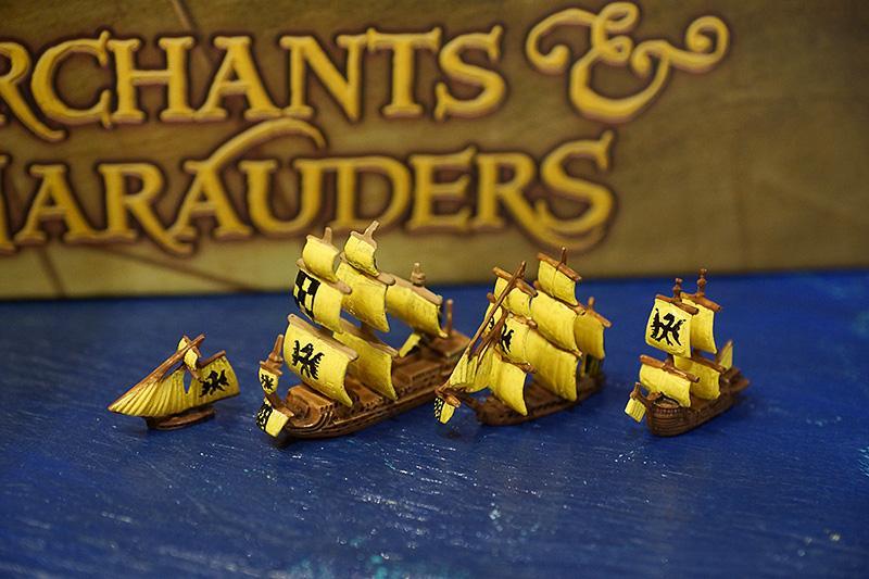 Merchants And Marauders, Painted, Pirates, Sailing, Sails, Sea, Ships