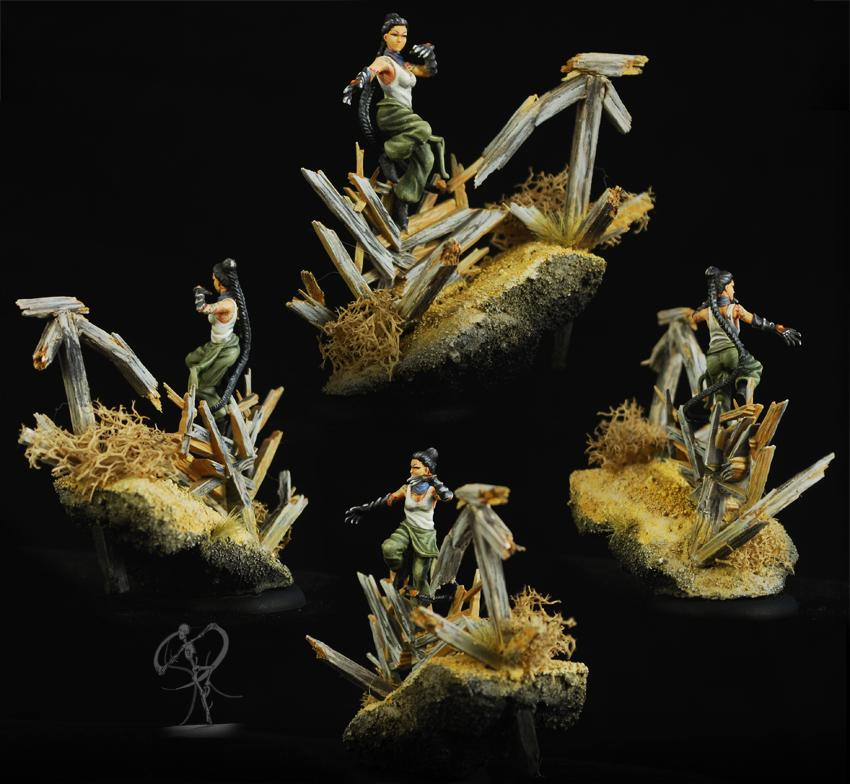Arcanists, Base, Freehand, Malifaux, Master, Mei Feng, Ten Thunders