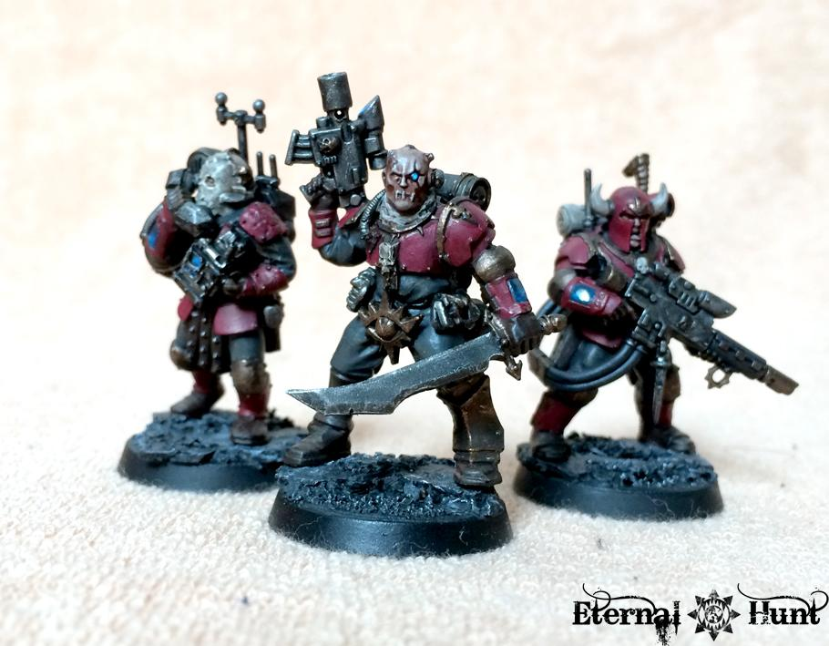Chaos, Conversion, Kitbash, Renegade Militia, Renegades, Traitor Guard, Urash's Marauders, Warhammer 40,000, Work In Progress