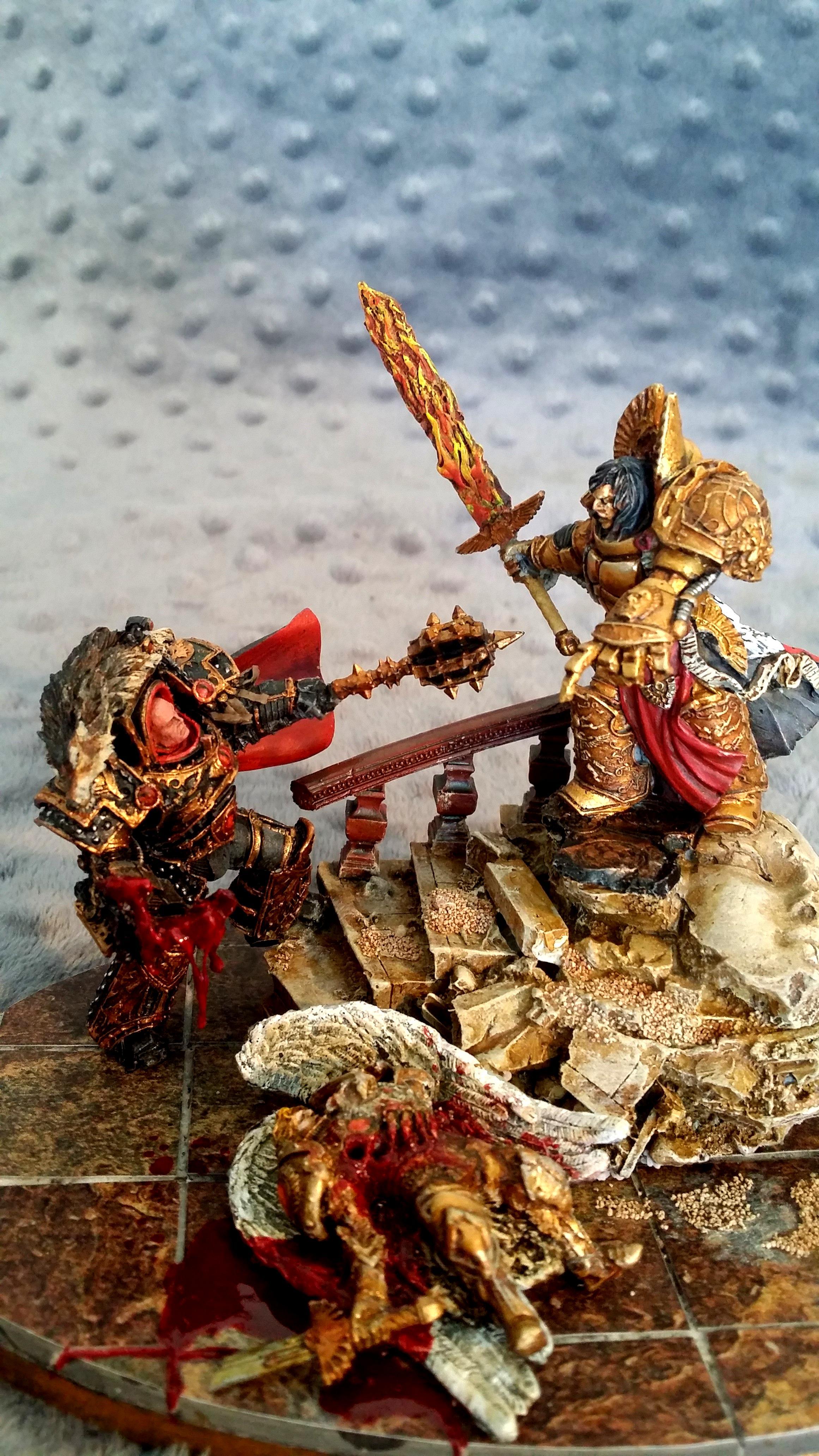 Emperor, Final Battle, Horus, Horus Heresy, Horus Vs The Emperor