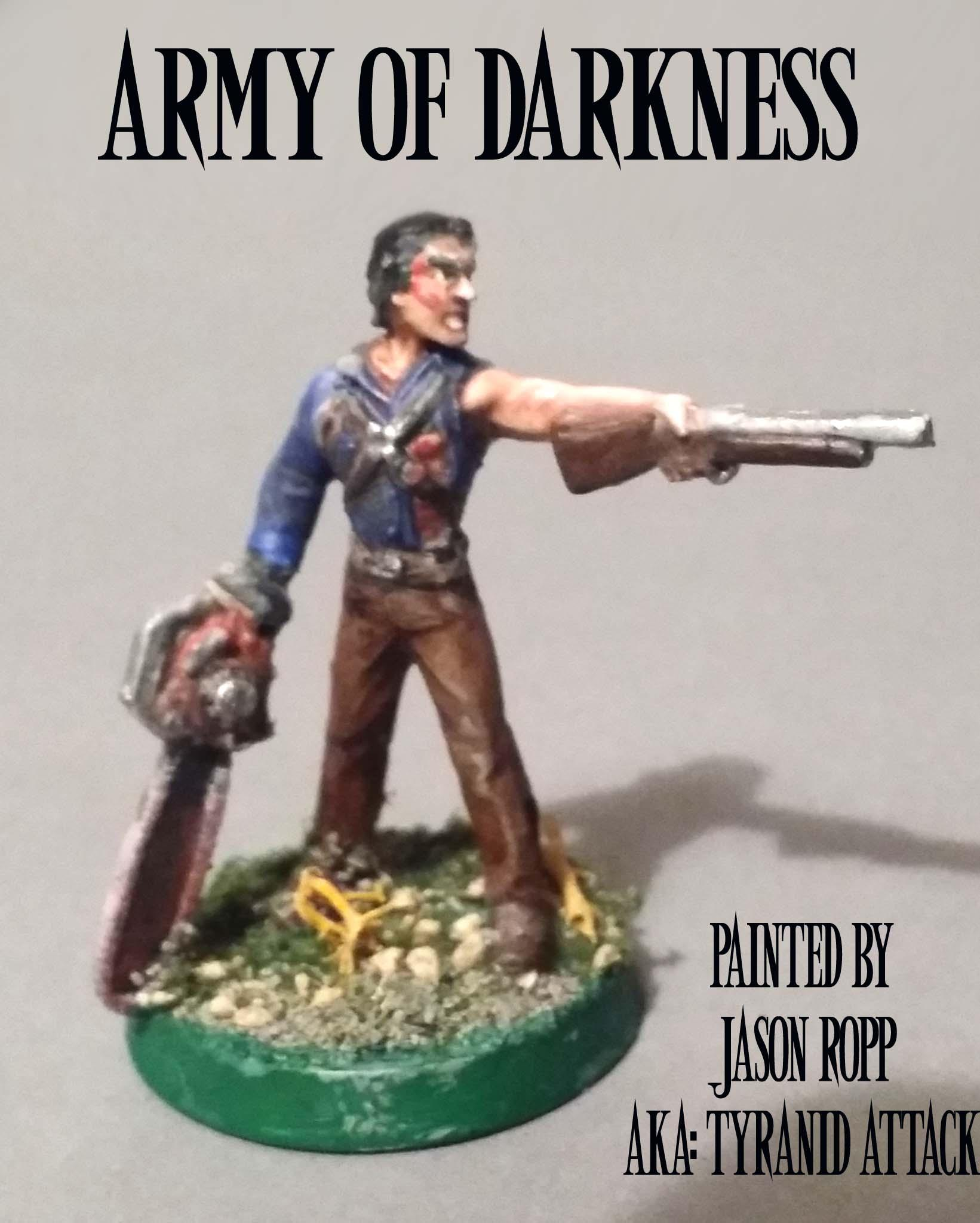 Army Of Darkness, Ash, Battle, Chainsaw, Evil Dead, Hasslefree, Miniature, Miniatures, Skelleton Army, Tyranid Attack, Warhgame, Zombie