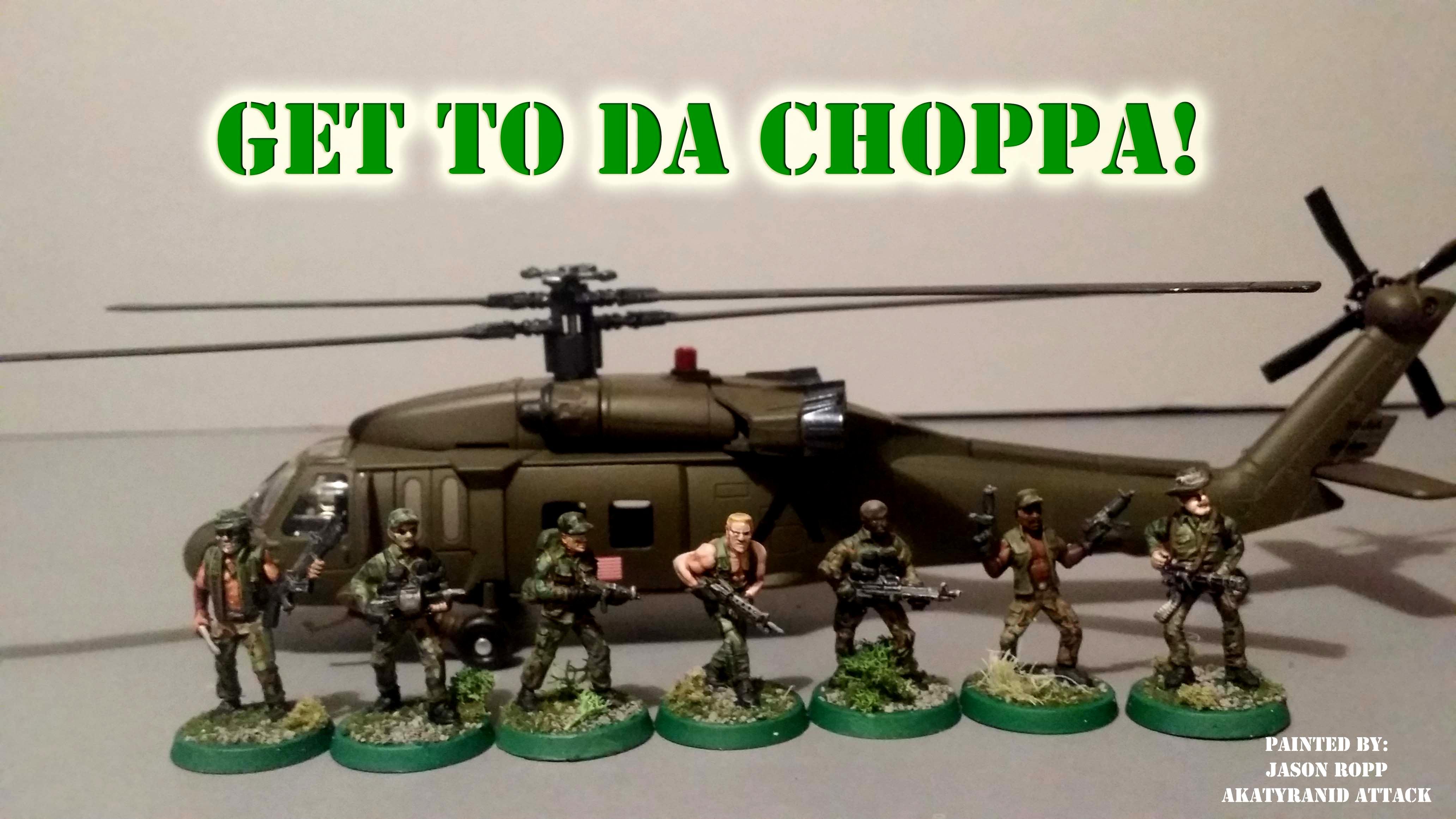 Aliens, Arnold, Avp, Battle, Dogs Of War, Game, Games, Get To Da Choppa, Helicopter, Miniature, Predator, Predators, Prodos, Ral Partha, Schwartenegger, Testors, Wargame