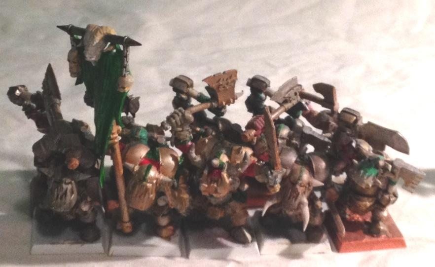 black orcs with dreaded green banner