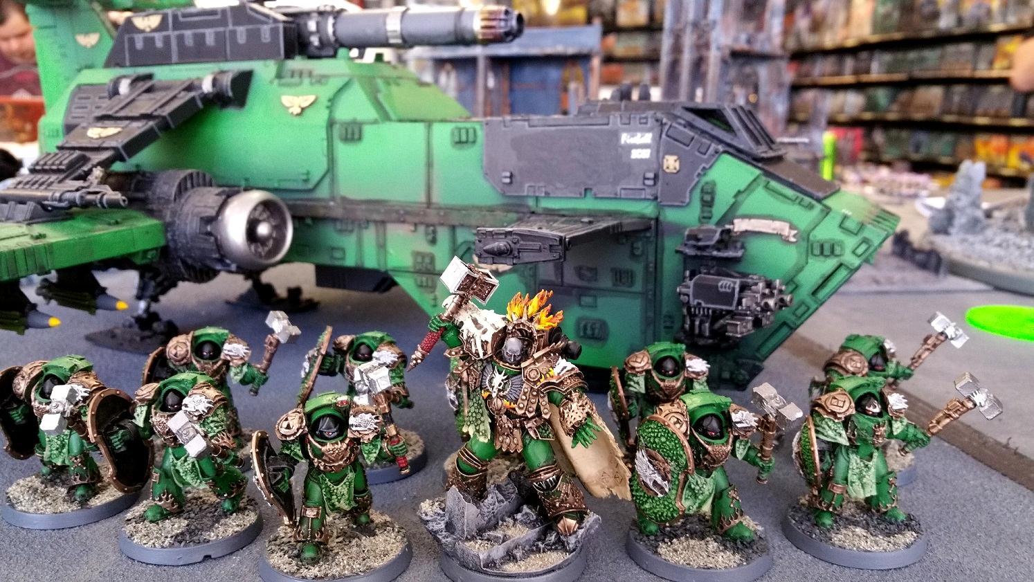 Salamanders, Terminator Armor, Thunderhawk, Vulkan, Warhammer 40,000