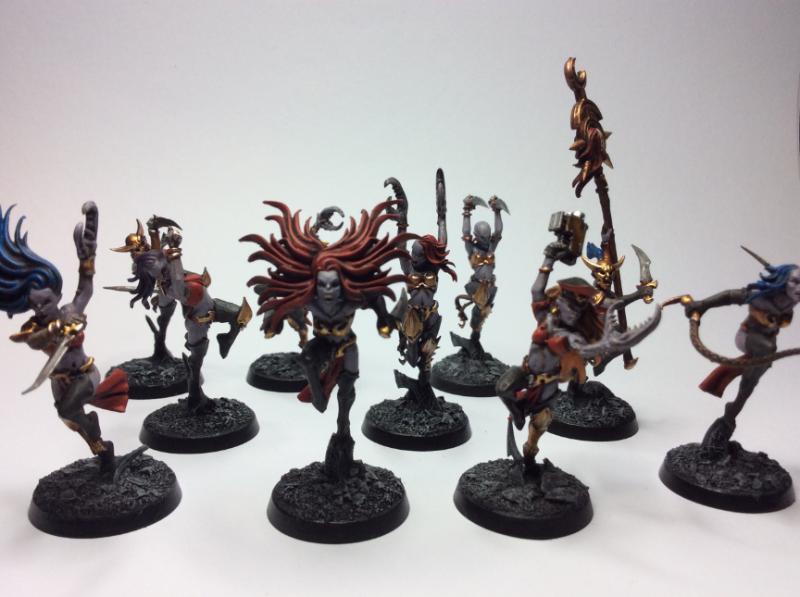 Chaos, Conversion, Daemonettes, Daemons, Slaanesh