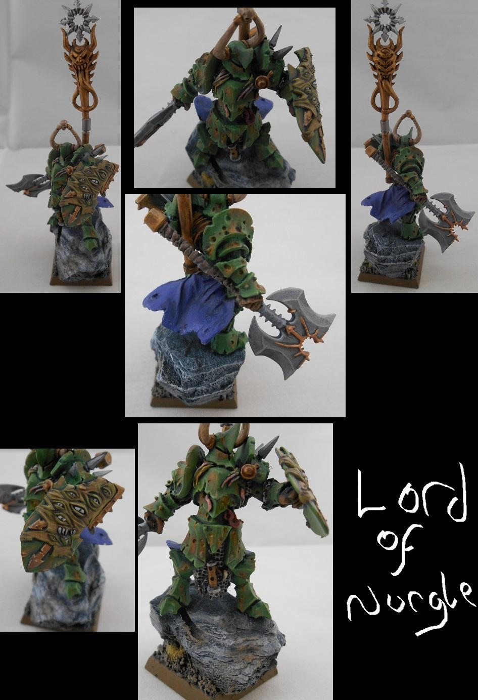 Chaos Lord, Nurgle, Rust, Sorcerer, Warriors Of Chaos, Weathered