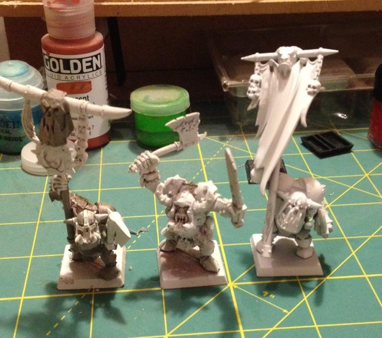 Black orcs with pretty much just primer on them