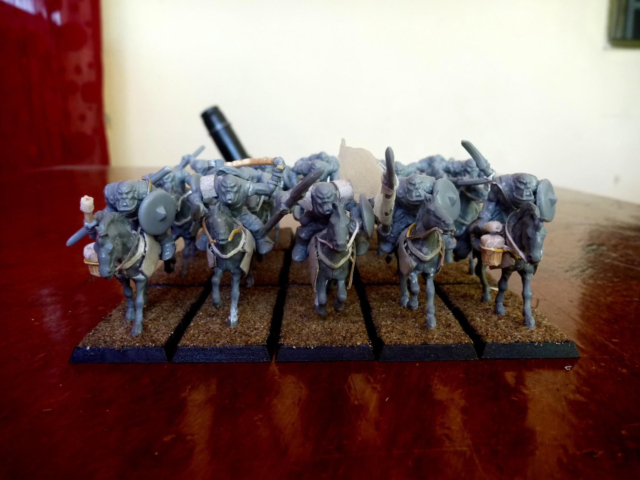 Cavalry, Conversion, Em4, Horse, Orcs, Orks, Wargames Factory