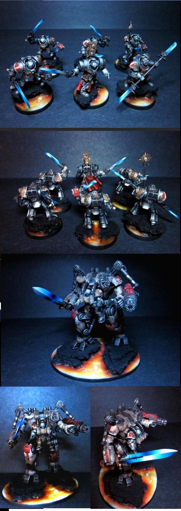 Dreadknight, Grey Knights, Lava, Terminator Armor