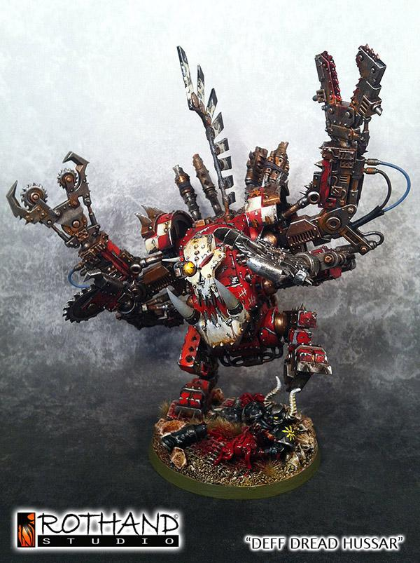 Commission, Deff Dread, Orcs, Painting, Rothand Studio, W40k, Warhammer Fantasy