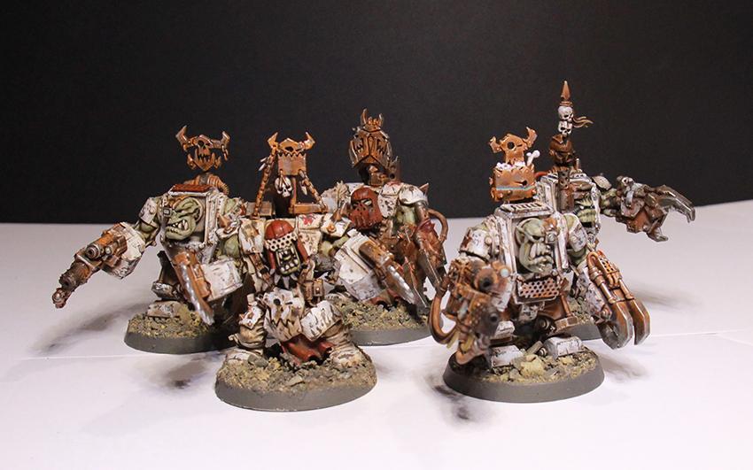 Mega Nobz, Orks, Rust, Soviet, Weathered, White