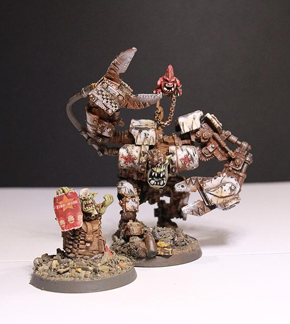 Conversion, Orks, Soviet, Warboss, Weathered, White