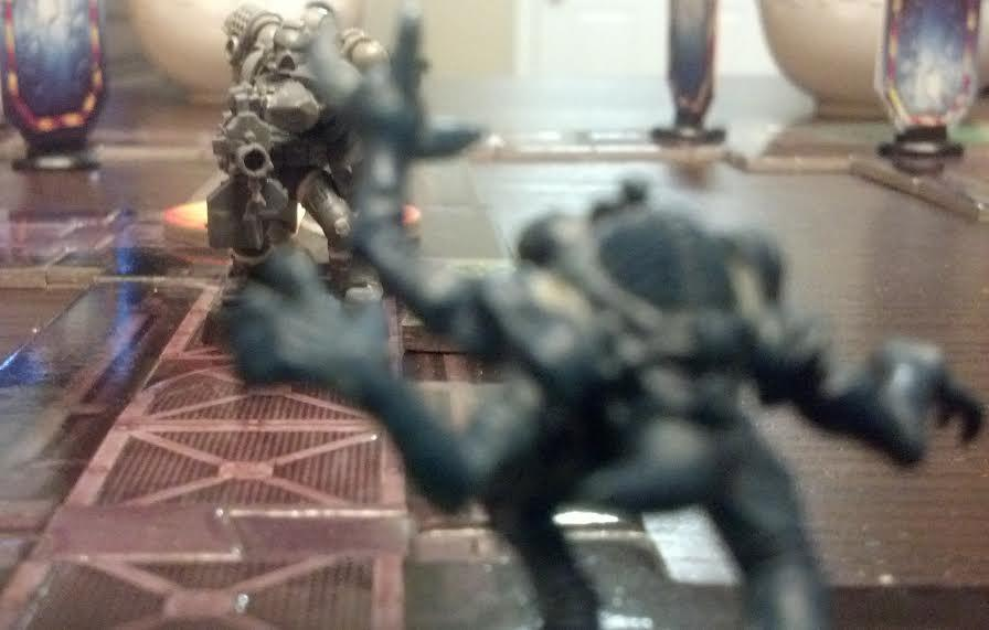 Conversion, Converting, Genestealer, Heavy Bolter, Space Hulk, Space Marines, Tall Scale, True Scale