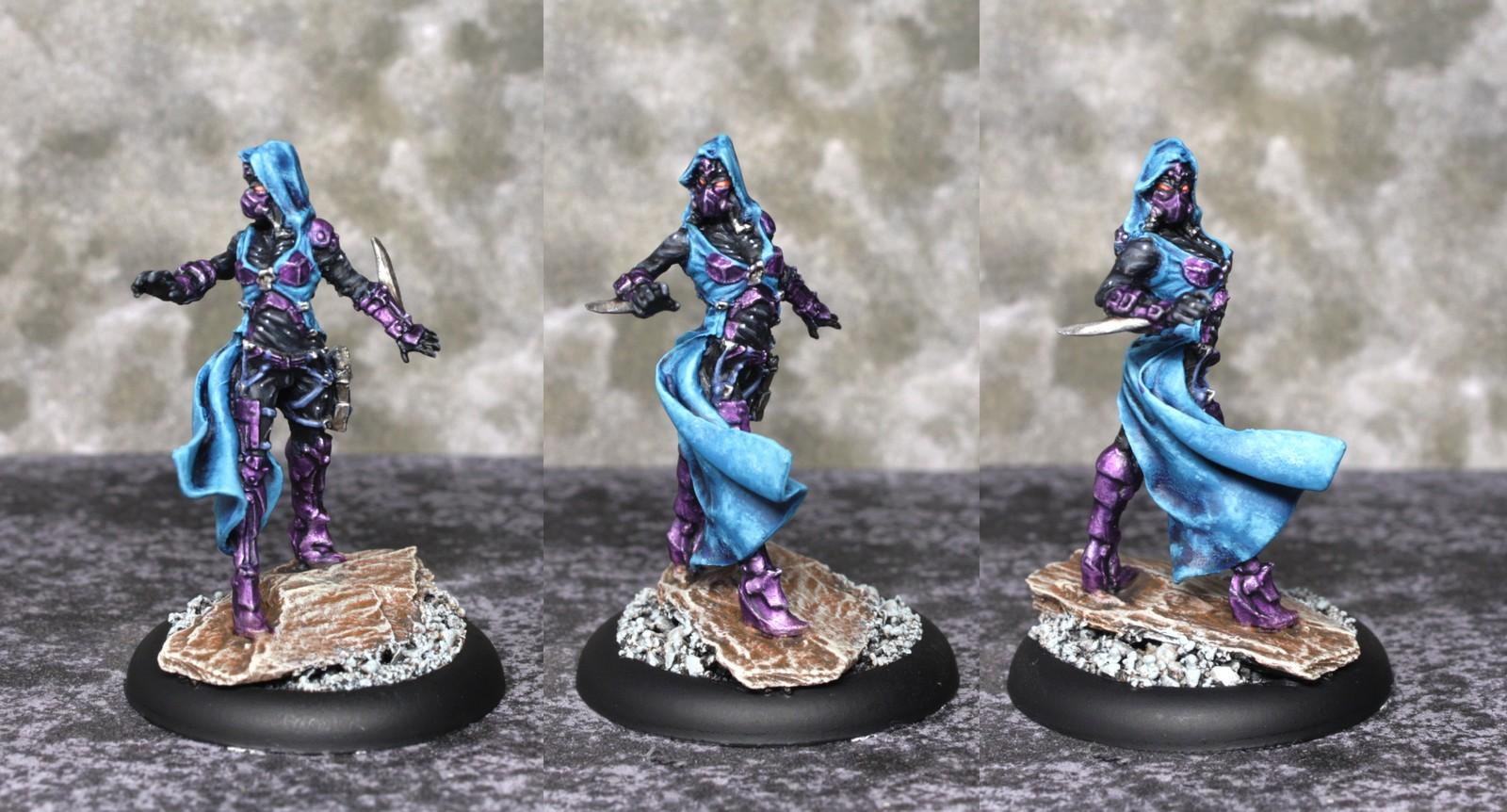 Assassin, Female, Graphigaut, Killer, Nikita, Purple, Shadow, Turquoise, Warforge