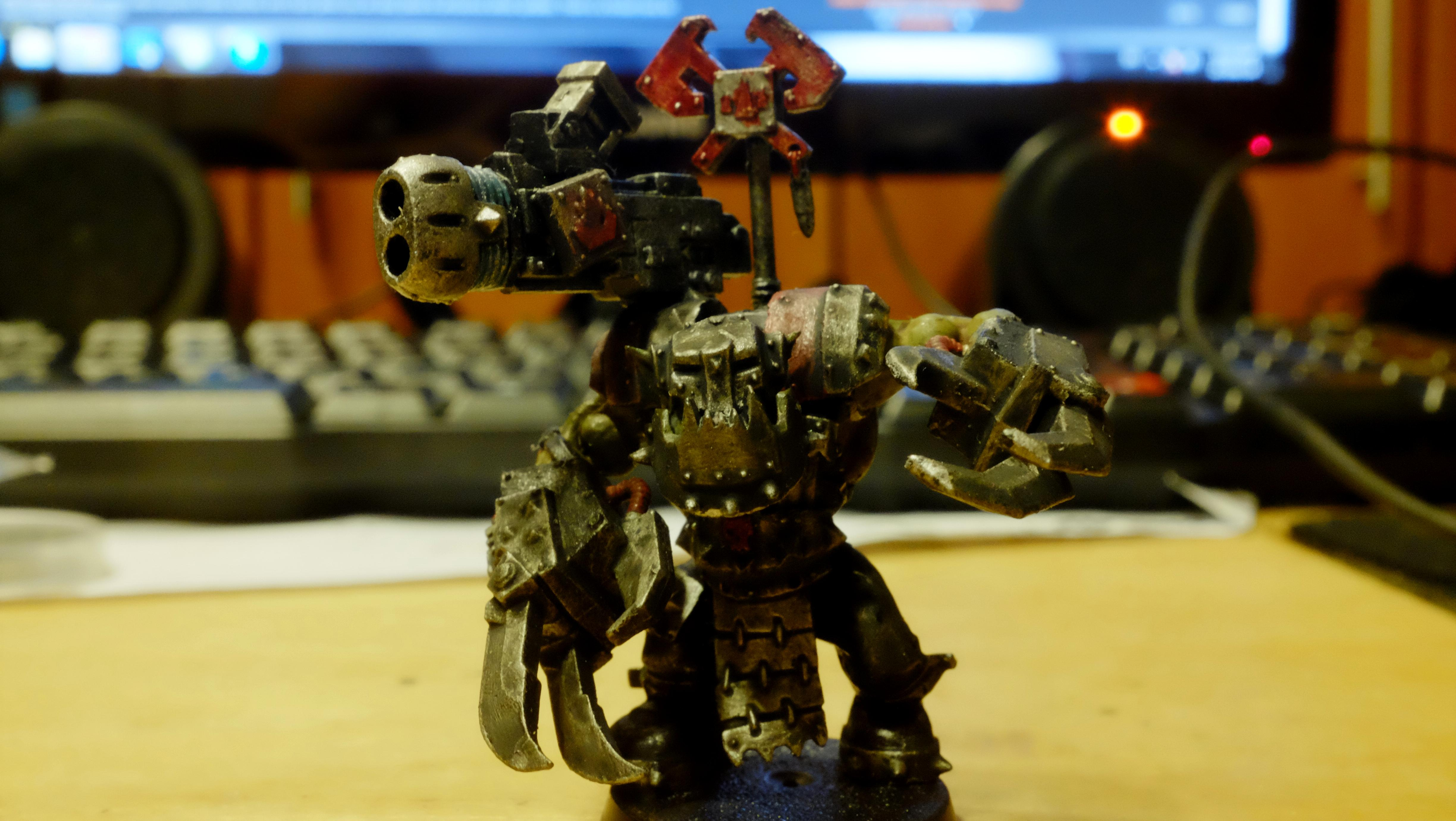 Blood Axe, Heavy Bolter, Kommado, Meltagun, Nob, Orks, Powerclaw