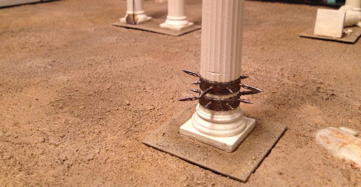 Arena Rex, Pillars, Terrain