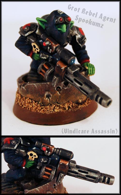 Assassin, Goblins, Greenskins, Gretchin, Grots, Ninjas, Orks, Rebel Grots, Snipers, Vindicare, Warhammer 40,000